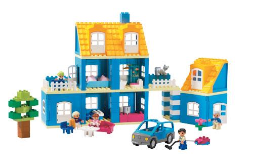 Blauw Duplo Huis